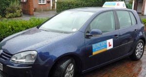 Duncan's Driver Training use a Dual Controlled VW Golf